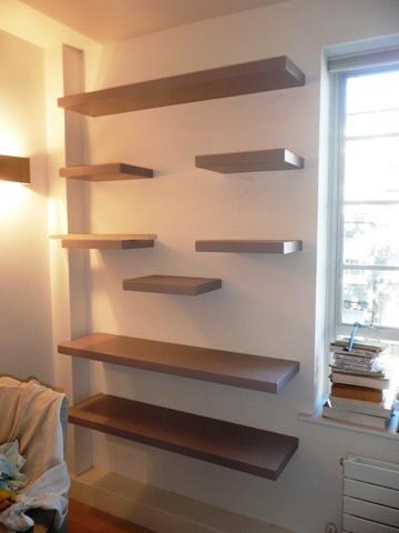 custom house corner glass shelves